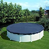 Gre CIPR653 Cubierta de invierno para piscinas redondas, Negro