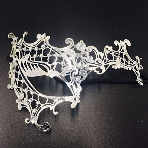RXBC2011 Laser Cut Cosplay Metall venezianischen Maskerade Hübsche Halbmaske mit Strasssteinen Maskefür ()