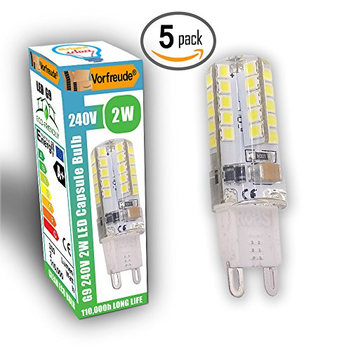 -vorfreude-5x-2w-g9-led-bulbs-240v-pack-of-5-110000-hour-5500-longer-life-6000k-cool-white-capsules-
