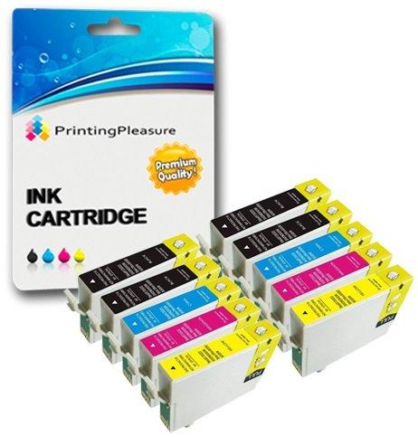 10 Compatibili 16XL Cartucce d'inchiostro per Epson Workforce WF-2010W WF-2510WF WF-2520NF WF-2530WF WF-2540WF WF-2630WF WF-2650DWF WF-2660DWF WF-2750DWF - Nero/Ciano/Magenta/Giallo, Alta Capacità