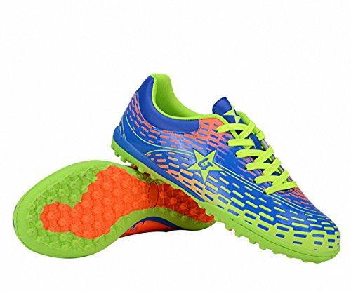 Ben Sports Tf AG FG Entraînement de Football Homme Chaussures de Football Garçon Mixte Adulte Enfant,31-44 TF-Bleu