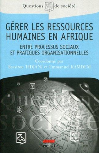 Gérer les ressources humaines en Afrique - Entre processus sociaux et pratiques organisationnelles par Bassirou Tidjani