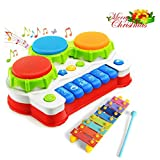 GoStock Xilófono para bebé Xilófono Juguete de Plástico de Instrumento Musical para Niños Juguete Educativo de Desarrollo Regalo para Niños Xilófono Juguete con Sonido para Niños (D301)