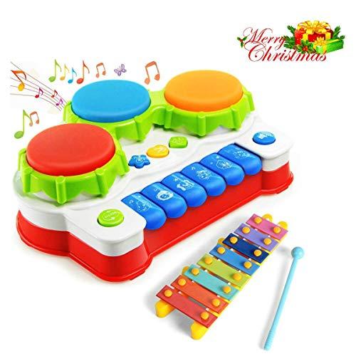 GoStock Musikspielzeug Baby Spielzeug xylophon musikinstrumente für Baby Klavier Keyboard und Hammer für Kinder, Jungen und Mädchen Spielzeug ab 1 2 3 Jahre (Color 1)