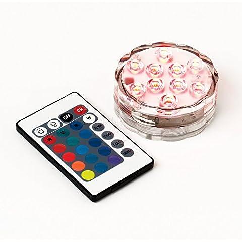 Spinex luces sumergibles LED accionado por control remoto a prueba de agua del florero de luz RGB multicolor Luz en la base floral para la boda / el partido / Decoración de Navidad de Halloween