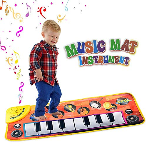 ZFXNB Kids Toys, Piano Mat Musical Carpet Play Keyboard Singing New Touch Decke für Kinderspielzeug mit 8 Musikinstrumenten Muster Great Baby Toy (Perfect Touch Decke)