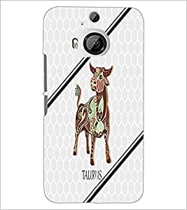 PrintDhaba Zodiac Taurus D-4799 Back Case Cover for HTC ONE M9 PLUS (Multi-Coloured)