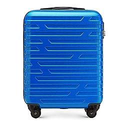 Stabiler Koffer-Trolley Handgepäck von WITTCHEN ABS 54 x 39 x 23 cm 2.8 kg 38 L Blau Bordgepäck Bordcase 56-3A-391-90