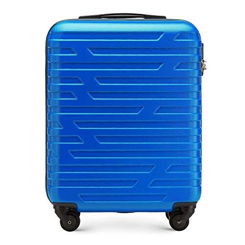 WITTCHEN Trolley Bagaglio a mano - Valigia rigida | Colore: Nero | Materiale: ABS | Dimensioni: 54x39x23 | Peso: 2,7 kg | Capacità: 38 L | 4 ruote