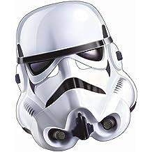 Careta tropas de clones Máscara de papel original Star Wars Adulto Mascarilla soldado capitán Rex fiesta temática ciencia ficción El despertar de la fuerza antifaz de guerrero Accesorio disfraz guerrero clon