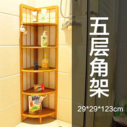 Nan bamboo angolo cucina per montaggio a rack solido treppiede soffitto in legno staffa ad angolo Mensola per bagno-Tier 5 , E-mail di livello pacchetto staffa ad angolo