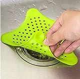 nicebuty 1pcs Colorful Silicona Ventosas baño fregadero accesorios para baño con ventosa fregadero filtro filtros Alcantarillado pelo escurridor de filtro