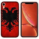 Generico Coque iPhone XR Housse Apple iPhone XR Drapeaux de la Ville Albanie/Coque...