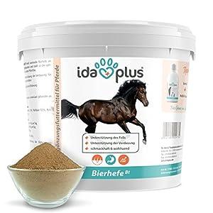 Ida Plus – Bierhefe Bt – 6kg – Futterergänzung für Pferde & Ponys – für glänzendes Fell & kräftige Haut – unterstützt Verdauung & Darmflora – reich an B-Vitaminen, Mineralien & Spurenelemente