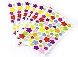 Stern Sticker-Set Sterne Aufkleber Sternchensticker 6 Seiten Bunte Markierungspunkte Fotoalbum Lagerkontrolle Ettiketten Scrapbooking DIY