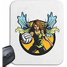 "Mousepad alfombrilla de ratón ""VOLEIBOL DE PLAYA INTERNACIONAL DE BOLA equipo del club EQUIPO DE FÚTBOL FÚTBOL VIDA DE MANERA STREETWEAR HIPHOP SALSA LEGENDARIO"" para su portátil, ordenador portátil o PC de Internet .. (con Windows Linux, etc.) en White"