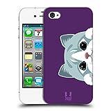 Head Case Designs Katze Guckende Tiere Ruckseite Hülle für Apple iPhone 4 / 4S