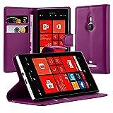 Cadorabo Custodia Libro per Nokia Lumia 925 in Violetta Ametista - con Vani di Carte, Funzione Stand e Chiusura Magnetica - Portafoglio Cover Case Wallet Book Etui Protezione