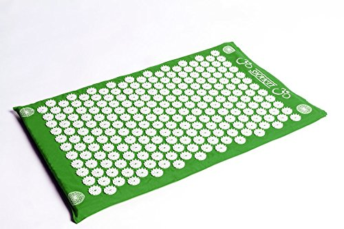 The Green Shakti Mat (Bed of Nails Mat) 100% Cotton, Most Acupressure...