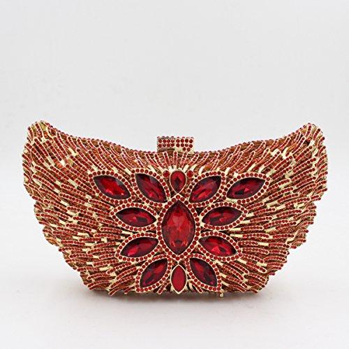 Abendbeutel der europäischen und amerikanischen Stil Schmetterling bohren voll Handtasche Leiter Kuriertasche mit 5 Farben color 1