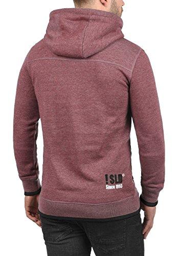 SOLID BenjaminHood Herren Kapuzenpullover Hoodie Sweatshirt mit optionalem Teddy-Futter aus hochwertiger Baumwollmischung Meliert Wine Red Melange (8985)