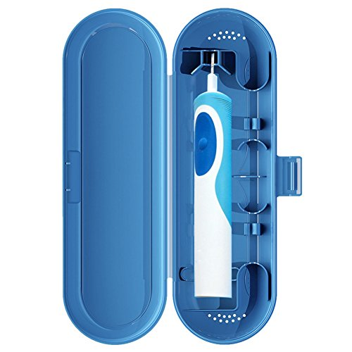 Tragbare Reise-Zahnbürstenschutzhülle für elektrische Zahnbürste, langlebig, für Camping, für Oral-B blau