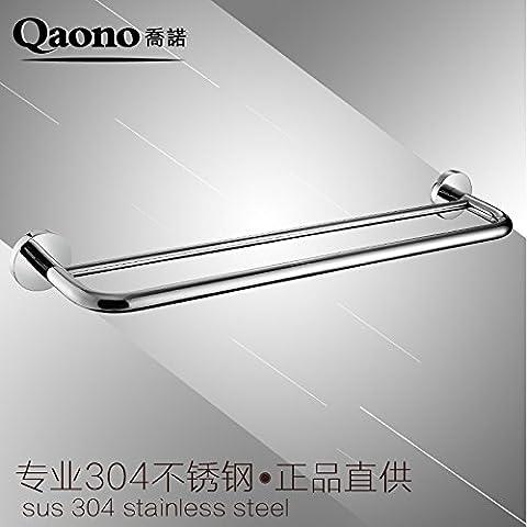 QUEEN'S Acciaio inossidabile 304 Portasciugamani leva Double-Decker spazzolato specchio asciugamano
