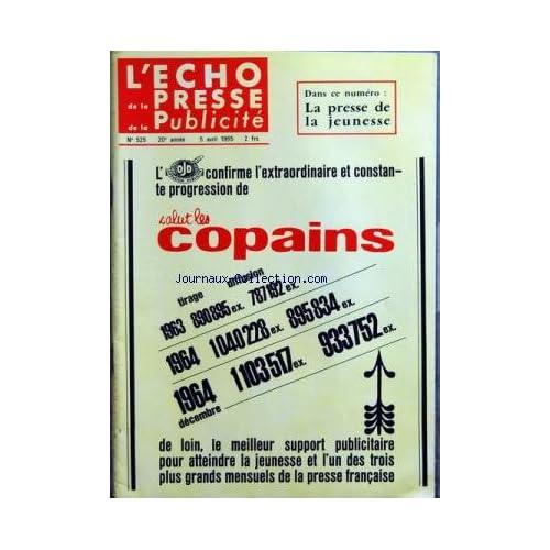 ECHO DE LA PRESSE DE LA PUBLICITE ET DES RELATIONS PUBLIQUES (L') [No 525] du 05/04/1965