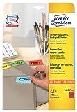 Avery Zweckform L6036-20 Farbige Etiketten (A4, 3.780 Stück, 25,4 x 10 mm) 20 Blatt rot