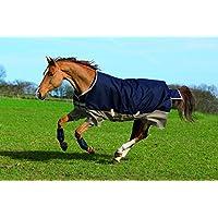 Horseware Amigo Mio Turnout Lite ohne Füllung Regendecke Navy & Tan 115-160