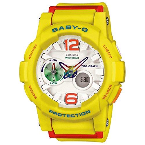Casio Baby-G G-Lide Playa Moda Serie Blanco Dial Damas Reloj bga180–9B