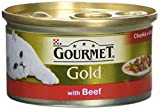 Purina Gourmet Gold Chunks with Beef in Gravy Adult Wet Cat Food, 85g