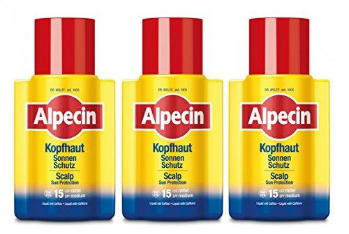 3er Kopshaut Sonnen Schutz Alpecin LSF 15 speziell für die Kopfhaut 100 ml