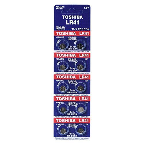 Toshiba LR41 AG3 Pile alcaline 1,5 V piles 1 Lot (10)