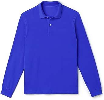 VANVENE Men's Casual Long Sleeve Polo Shirt Golf Tennis T-Shirts with Regular Fit