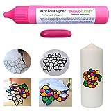 TrendLight  Wachsdesigner pink glänzend 30 ml inkl. ausführlicher Anleitung mit Bilder