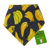 Dimples Hundehalstuch - Bananen auf Jeans blau gelb (Handgemacht für alle Größen und Rassen) 55cm