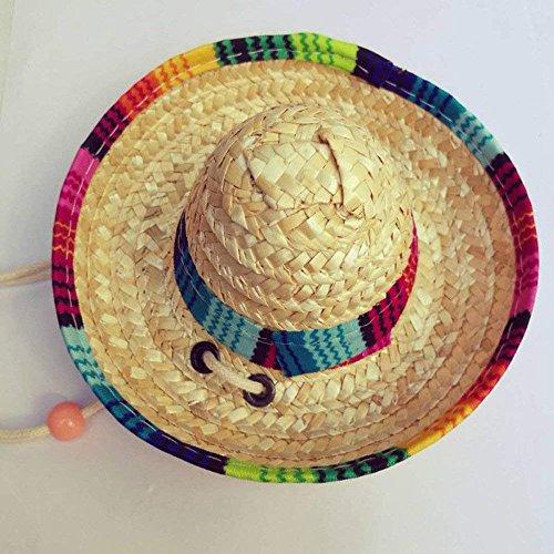 et Hunde Sombrero Sun Hat Strand Stroh Hüte Hunde Mexikanischen Stil Hat für Hunde und Katzen ()