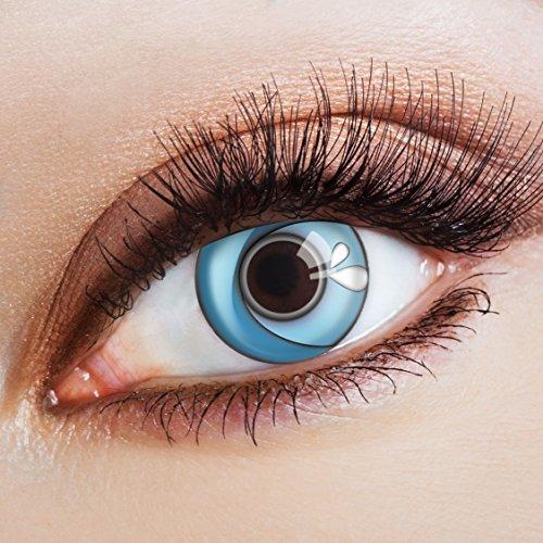 aricona Kontaktlinsen Farbige Kontaktlinse Blue Wave   – Deckende Jahreslinsen für dunkle und helle Augenfarben ohne Stärke, Farblinsen für Karneval, Fasching, Motto-Partys und Halloween Kostüme