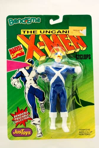 Cyclops Figure Figure Figure - 1991 - Uncanny X-Hommes  Series - Bend-Ems - Bendable - Poseable - Very Rare - Marvel - Limited Edition - Mint - Collectible by Just Toys | Excellent (dans) La Qualité