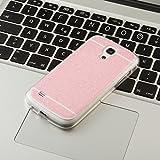FINOO ® | Handyhülle Glitzer Bling Bling TPU Bumper Case Weiches Silikon Schutzhülle für SAMSUNG GALAXY S4 Pink