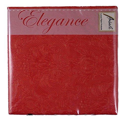 Ambiente - Cocktail Servietten - Elegance - geprägt - red / rot
