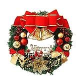Happy Event Christmas Weihnachten Thanksgiving Deco Ornament | 30cm Roter Bowknot Kränze Girlanden Blumenketten | Dekorativer Kranz Schöne Deko für Wand, Tür und Tisch