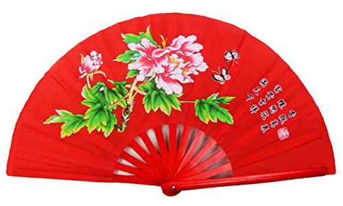 Abanico chino de bambú para el baile o la práctica de artes...