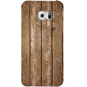 Casotec Wood Design Hard Back Case Cover For Samsung Galaxy S6