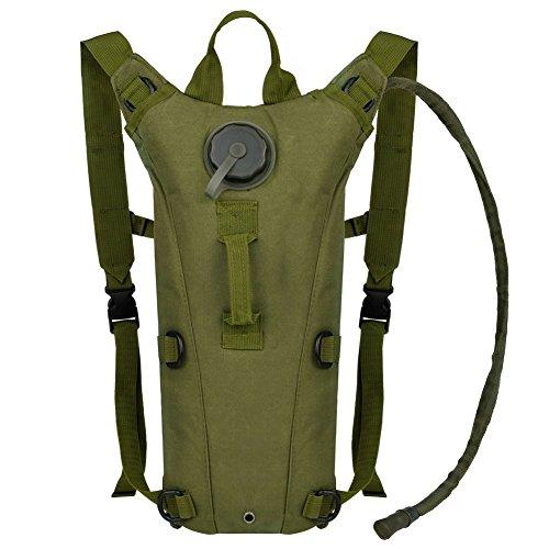 Bormart Wasserbeutel, 3 l, 3 Liter, 100 oz, Wasserbeutel, Wandern, Klettern, Jagd, Laufen, Survival Outdoor Rucksack, Armee-grün (100 Oz-blase)