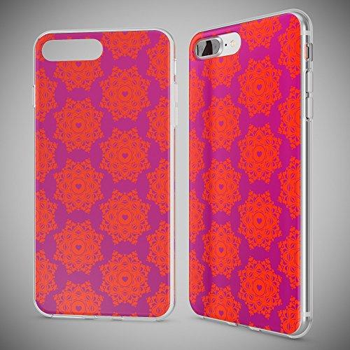 iPhone 8 Plus / 7 Plus Hülle Handyhülle von NICA, Slim Silikon Motiv Case Crystal Schutz Dünn Durchsichtig, Etui Back-Cover Transparent Bumper für Apple iPhone 7+ / 8+ - Transparent Royal Ornament