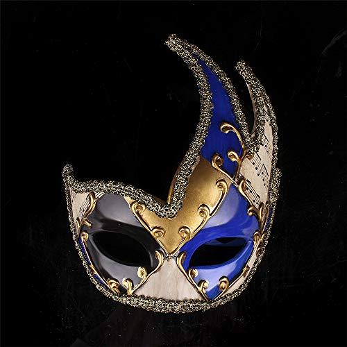 LYFWL Halloween Halbe Gesichtsmaske Weihnachten Masken-Halloween-Party-Proof Show Alt -