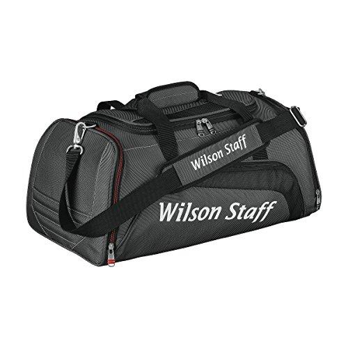 Wilson Staff Herren Accessoires W/S Overnight Bag GM, Schwarz/Grau, 52 x 28 x 24 cm, 1 Liter, WGB4803GM