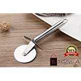 Bagonia's Pizza And Pastry Cutter With Stainless Steel Cutting Wheel | Razor Sharp Cutter | Pizza Wheel, Pizza Slicer - For Pizza Lovers | Hanging Loop For Easy Storage In Your Home Kitchen